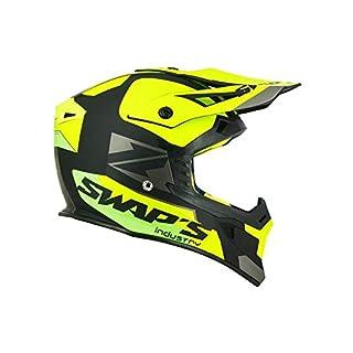 Swaps – Motorradhelm Cross Blur S818 schwarz Neongelb grün matt – ECE R22-05