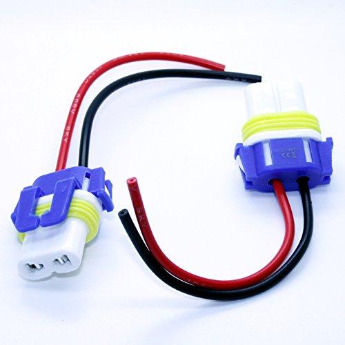 Preisvergleich Produktbild LED-Mafia 2X HB4 9006 P22d LAMPENFASSUNG Halogen Lampen Fassung Keramik Stecker Kabel Sockel 12V
