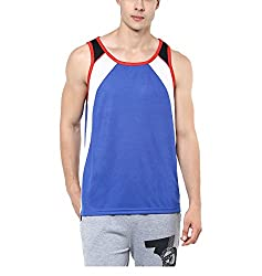 Yepme Mens Blue Blended Muscle Vests - YPMMVST0086_S