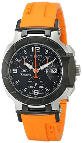 TISSOT T-RACE DAMEN 36MM CHRONOGRAPH ORANGE KAUTSCHUK ARMBAND UHR T0482172705700 (Armband Tissot T-race)