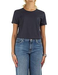 T-Shirt adidas – Crop bleu/blanc taille: 34 XS (X-Small)