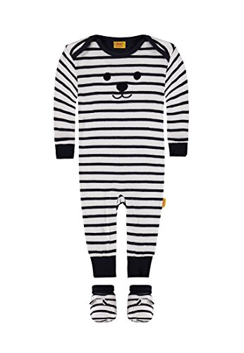 Steiff Baby-Jungen 2tlg. Set Strampler 1/1 Arm + Schuh, Mehrfarbig (Y/D Stripe 0001), 62