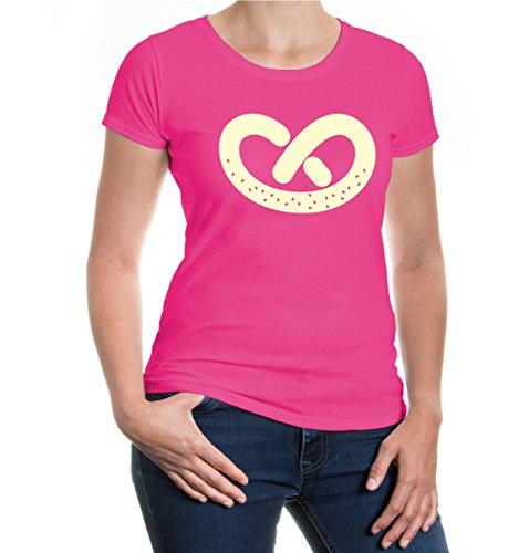 buXsbaum® Girlie T-Shirt Brezl Fuchsia-Beige