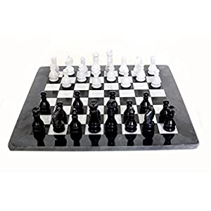 RADICALn handmade black and white marble full chess game original marble chess set - RADICALn mano marmo bianco e nero pieno partita a scacchi in marmo originale set di scacchi