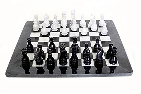 RADICAL Handmade Black and White Marble Full Chess Game Original