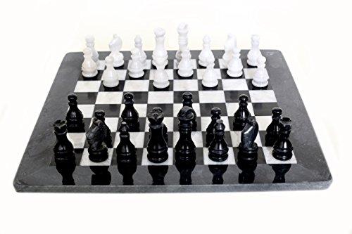Radicaln Handgemachter Marmor gewichtet schwarz und weiß Staunton Tournament Schachbrettspiele Set Elegante Home Décor Schachspiel Sets Marble Chess Sets