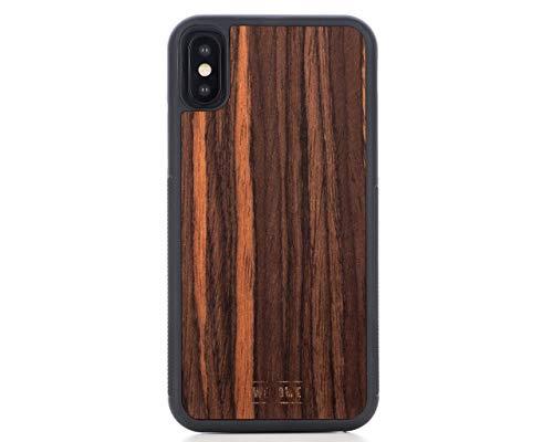 WoodWe iPhone Schutzhülle aus Naturholz für iPhone XS Max, schlankes und handgefertigtes Design, strapazierfähig, Ebenholz