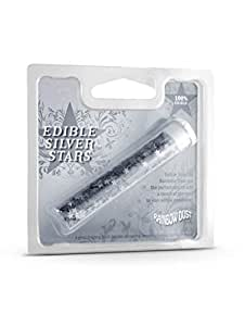 Edible Silver Star Food Sprinkles for Cake & Food Decoration