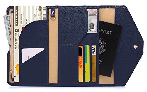 Zoppen RFID Blocker Reisepasshülle (Ver.4) Passport Hülle Halter dreifach Dokumente Organizer, #2 Marinebla -