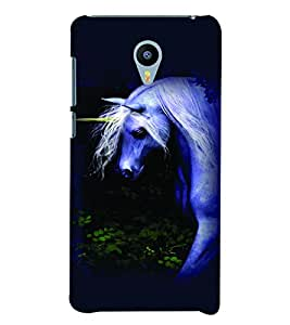 PrintVisa Animal Unicorn Cute 3D Hard Polycarbonate Designer Back Case Cover for YU Yunicorn