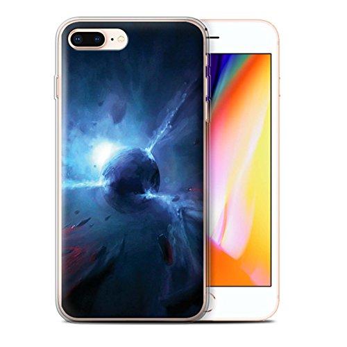 Offiziell Chris Cold Hülle / Gel TPU Case für Apple iPhone 8 Plus / Phönix/Raumzeit Muster / Galaktische Welt Kollektion Pulsar/Neutron Stern
