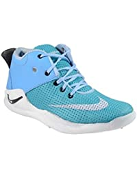 Shoes For Mens Stylish Sneakers Men's Stylish Running Lace-Up Grey Sports Shoes By Dee Y Footwear