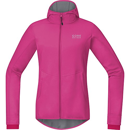 GORE BIKE WEAR Damen Element Lady Windstopper Hoody, Raspberry Rose/Jazzy Pink, 36