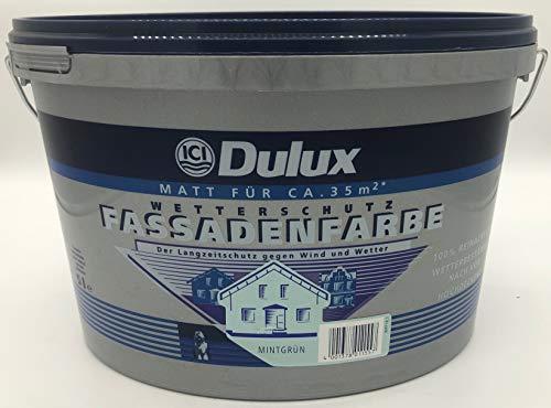 Dulux Wetterschutz Fassadenfarbe Matt 5 Liter für ca. 35 m² (Mintgrün)