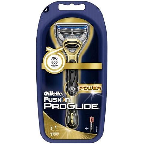 Gillette Fusion Proglide Power - Cuchilla de afeitar eléctrica, color dorado