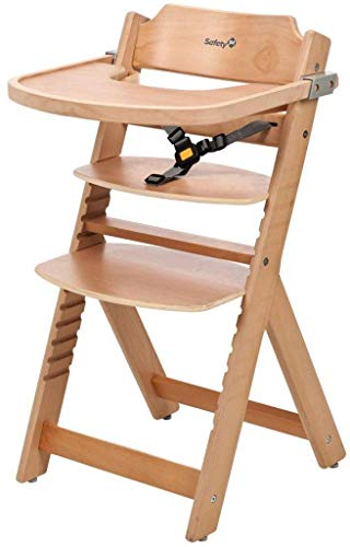 Safety 1st Timba Wooden Highchair (Natural) by Safety 1st