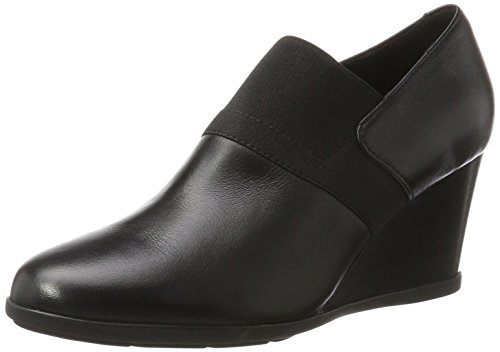 Geox D Inspiration Wedge A, Scarpe con Tacco Donna Nero (Black)