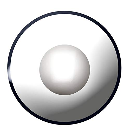 3-Monatslinsen WHITE MANSON, weiße Zombie Kontaktlinsen, Crazy Funlinsen, Halloween, Fastnacht, weiß - 3