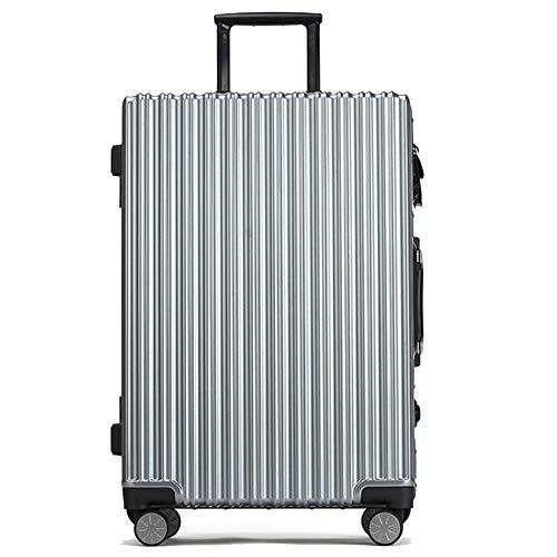 Boarding Veranstalter (LXYIUN Intelligenter Fingerabdruckkoffer, Koffer wiederaufladbarer 24-Zoll-Boarding- und USB-Ladeanschluss für Männer und Frauen Boarding-Koffer,Gray)