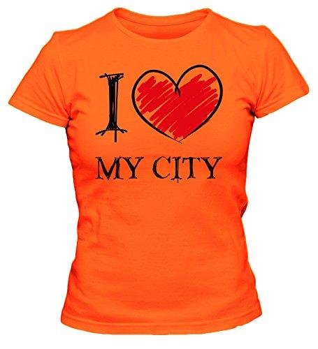 I love My City Fun Damen T-Shirt_orange_XL