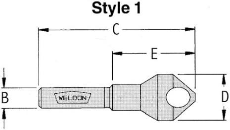 Drill America Style 1 HSS 90 gradi sbavatura Tool, Tool, Tool, 1 10,2 cm, attacco Weldon 3 40,6 cm –  81,3 cm diametro di taglio (confezione da 1) | Miglior Prezzo  | Eccellente valore  | Special Compro  07f515