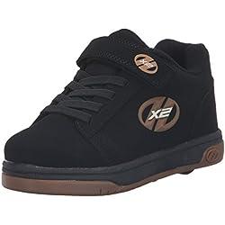 Heelys X2 Dual Up, Chaussures Deux Roues garçon, Noir (Black/Gum), 33 EU