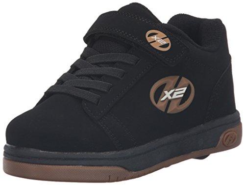 HEELYS Dual Up 770582 - Zapatos dos ruedas para niños, Black/gum, 34 EU