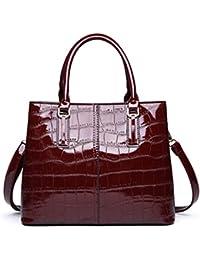a90566cc45 Borsa in vernice nera rossa Borsa in pelle di coccodrillo di lusso Borsa a  tracolla borse