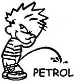 #5: Indiashopers Boy Petrol Sides, Windows Car Sticker (Black)