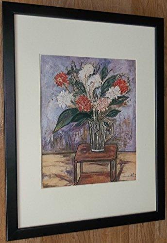 gerahmt Blumen Print–30,5x 40,6cm Rahmen, Blumen von Utrillo
