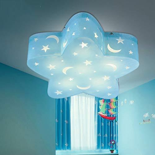 BAIJJ Deckenleuchte Fünfzackigen Stern Kinderzimmer Deckenleuchten Led-leuchten Jungen Und Mädchen Kreative Cartoon Studie Eye Star Schlafzimmer Lichter (Größe: 40 * 10 cm)