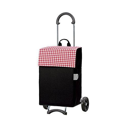 Andersen Chariot de courses Scala avec sacoche Iko rouge, volume 44 l, cadre acier