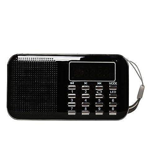 Timorn Tragbare Digital Radio MP3 Musik Spieler Medien Lautsprecher Unterstützungs