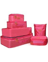 dc049cb659 Joyoldelf 7 Pcs Cubo Borse di stoccaggio, Organizer per valigie - Perfetto  di Viaggio Dei