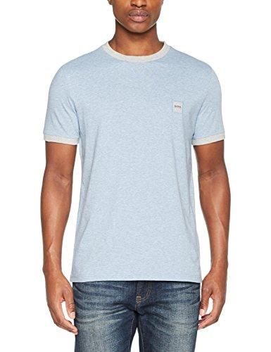 BOSS Casual Herren T-Shirt topical Blau (Open Blue 463)