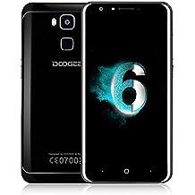 Moviles Libres Baratos, DOOGEE Y6 Piano Black Smartphone Android, Dual Sim Teléfonos Inteligentes - Teléfono Móvil 4G con Pantalla de 5.5 Pulgadas HD y MT6750 Octa Core 4GB RAM + 64GB ROM 8MP + 13MP Lente de Cámara - 3200mAh