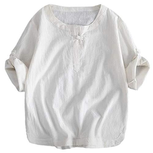 UINGKID Herren T-Shirt Kurzarm Slim fit Baumwolle Kurze atmungsaktive Bequeme einfarbige Herren-Bluse mit Sieben Quarte-Ärmeln und losem Hemd (Batman Muskel Brust)