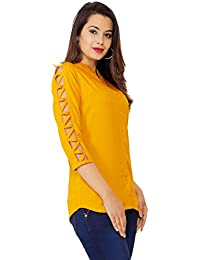 b6ad907ad2bdc6 FAB STAR Women s Beautiful Designer Rayon Top for Women