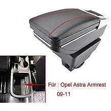 Reposabrazos para Astra J 2009 – 2011, giratorio, caja de almacenamiento, decoración,