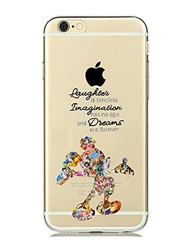 Phone Kandy® cas pour iphone 7 (4.7inch) Aquarelle dessin animé Art Cover Case Transparent Ultra Thin (Disney Dreams, TPU souple en silicone)