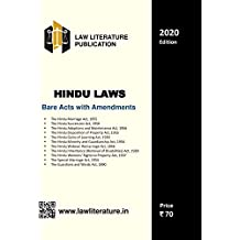Hindu Laws Bare Acts with Amendments 2020 Edition