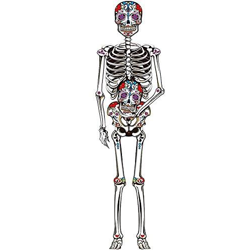 Guirca-Dekoration für Halloween-Skelett Anhänger, 150cm (26104) (Silhouette Halloween Skelett)