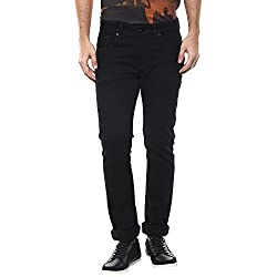 Spykar Mens Slim Fit Jeans (RO-01AG-19_Black_38)