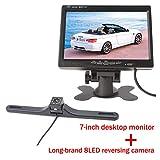 GOFORJUMP HD 7-Zoll-Auto-Monitor mit Nachtsicht IR-8 LED unterstützen die Rückseiten-Parkkamera-Monitor-Kamera