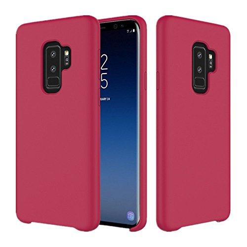 Samsung Galaxy S9 Plus Hülle, Samsung S9 Silikon Hülle Case Kratzfeste Soft Premium TPU Ultradünn Schutzhülle Weich Handyhülle Anti-Shock Tasche für Galaxy S9 Plus (Samsung Galaxy S9 Plus, Rose Rot)