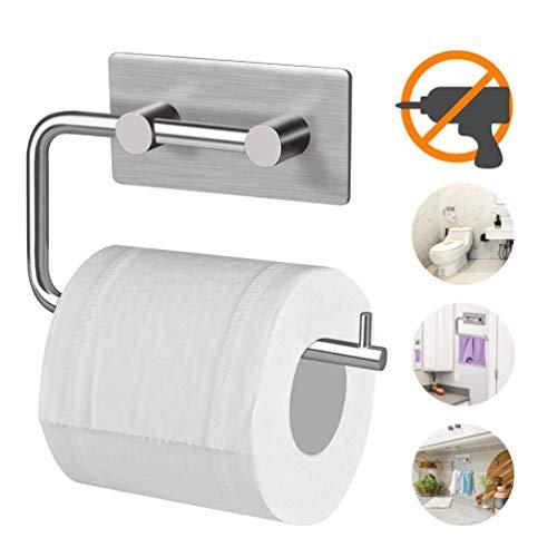 Toilettenpapierhalter, Kuyang Ohne Bohren Papierhalter Selbstklebend Rolle Handtuch Kleiderbügel, 304 Edelstahl Gebürstet Toilettenpapierhalter, Toilet Paper Holder für Küche, Badezimmer