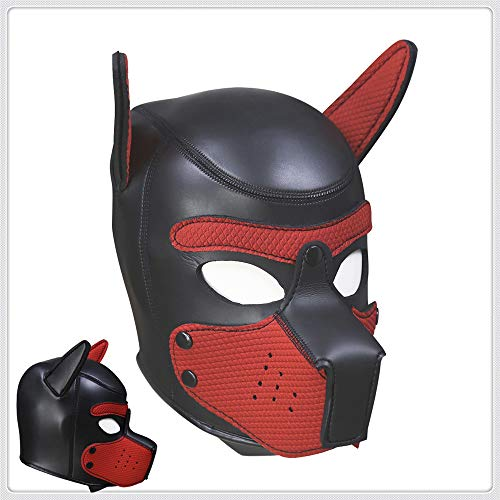 stüm, Latex, Tierkopf-Maske Training (Rot, L) ()