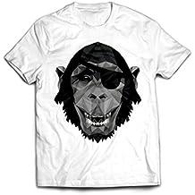 Affe mit Augenklappe - Hochwertiges T-Shirt aus Bio Baumwolle von dem Kölner Streetwear Label für Querdenker und Macher
