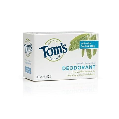 Tom's of Maine Moisturizing Bar Deodorant, 4-Ounces Bars