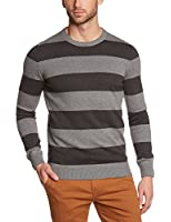 s.Oliver Men's 13.411.61.7386 Striped Crew Neck Long Sleeve Jumper